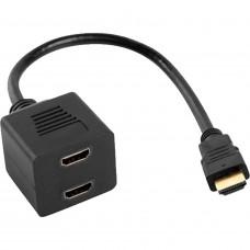 LANBERG HDMI AF X2 (SPLITTER) 25CM